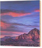 Sedona Arizona At Sunset Wood Print by Eddie Yerkish