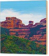 Sedona Arizona Red Rock Wood Print by Jill Reger