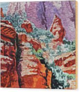 Sedona Arizona Rocky Canyon Wood Print
