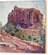 Sedona Butte Wood Print