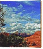 Sedona Capitol Butte Wood Print