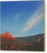 Sedona Clouds Wood Print