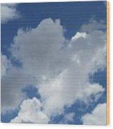 Sedona Heart Cloud Wood Print