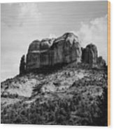 Sedona In Black And White Wood Print