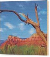 Sedona Red Rock Country Wood Print by Bob Salo