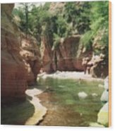 Sedona River Rock Oak Creek Wood Print