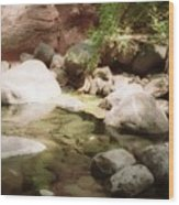 Sedona River Rock Wood Print