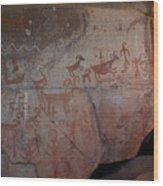Sedona Rock Art Panel Wood Print