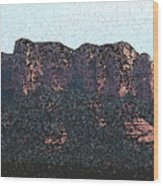 Sedona Rock Formation Wood Print