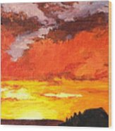 Sedona Sunset 2 Wood Print by Sandy Tracey