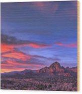 Sedona Sunset Wood Print by Eddie Yerkish