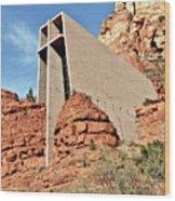Sedona - The Chapel Of The Holy Cross Wood Print