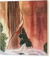 Sedona's Waterfall Wood Print