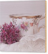 Sedum Flower Still Life Wood Print