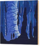 See America, Inside Cave Wood Print
