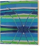 See Thru Blue Wood Print