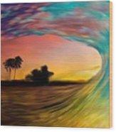 See Thru Wave Wood Print