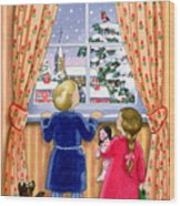 Seeing The Snow Wood Print by Lavinia Hamer