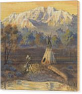 Seeking The Divine Wood Print by Jeff Brimley