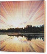 Seeleys Bay Explosion Wood Print
