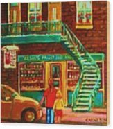 Segal's Fruit And Variety Store Wood Print