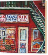 Segal's Market St.lawrence Boulevard Montreal Wood Print