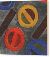 Segments 3 Wood Print