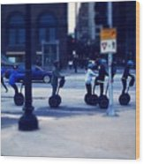 Segway - City Of Chicago Wood Print