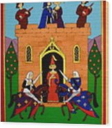 Seige Of The Castle Of Love Wood Print