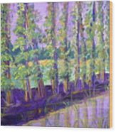 Seine River Wood Print by Made by Marley