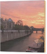 Seine River Wood Print