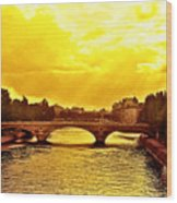 Seine View Wood Print