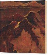 Seismic Shift Wood Print