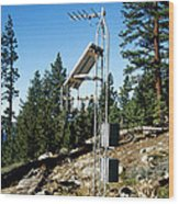 Seismological Station Wood Print