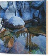 Sekani Rocks Tahoe Wood Print
