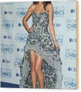 Selena Gomez Wearing An Irina Shabayeva Wood Print by Everett