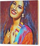Selena Queen Of Tejano  Wood Print