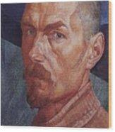 Self 2 1926-1927 Kuzma Sergeevich Petrov-vodkin Wood Print