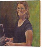 Self Portrait After Sofonisba Wood Print