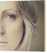 Self-portrait Wood Print by Amy Tyler