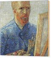 Self Portrait As An Artist Wood Print