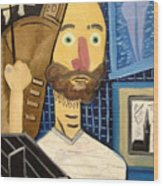 Self-portrait As Homage To Picasso Wood Print