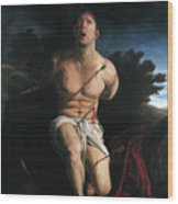 Self Portrait As St. Sebastian Wood Print