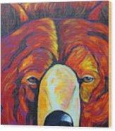 Self Portrait - Grizzly Wood Print