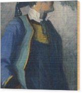 Self-portrait In Bretonnian Garb Wood Print