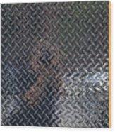 Self Portrait In Steel Wood Print by Robert Ullmann