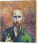 Self Portrait Wood Print by John  Nolan