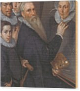 Self Portrait Of The Painter And His Family Wood Print