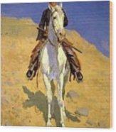 Self Portrait On A Horse 1890 Wood Print