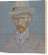 Self-portrait Paris  Summer 1887 Vincent Van Gogh 1853  1890 Wood Print